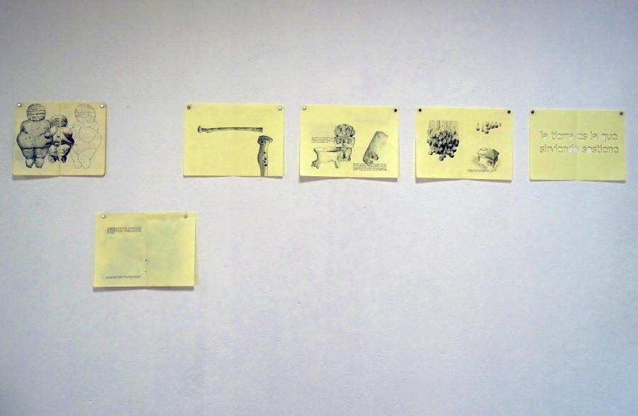 Obra de Andrés Felipe Gallo en el Primer Encuentro del Alto Magdalena, Arte Contemporáneo y Arqueología (ARCA), Pitalito, Colombia, 2018. Cortesía: info de bolsillo