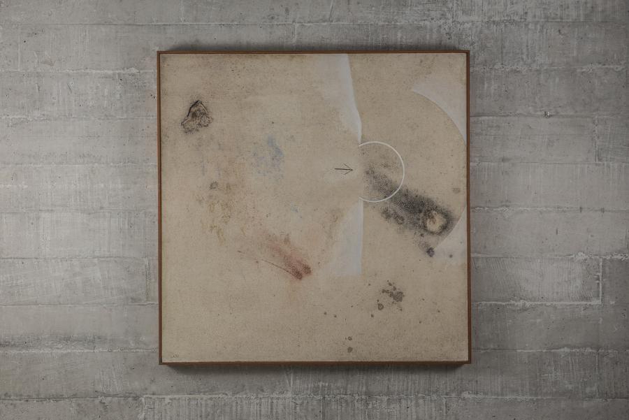 Emilio Rodríguez Larraín, Sin Título, 1977, óleo sobre aglomerado, 100 x 100 cm. Cortesía: Revolver, Lima