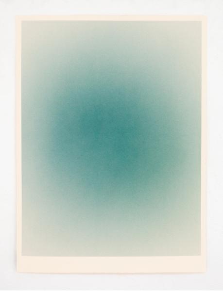Macarena Ruiz-Tagle, Serie de Atmósferas, 2013, acrílico y papel de acuarela, 56 x 76 cm. Cortesía de la artista