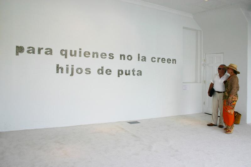 """Vista de la exhibición """"Operativo 1"""", de Teresa Margolles, en Y Gallery, Queens, Nueva York, 2007"""
