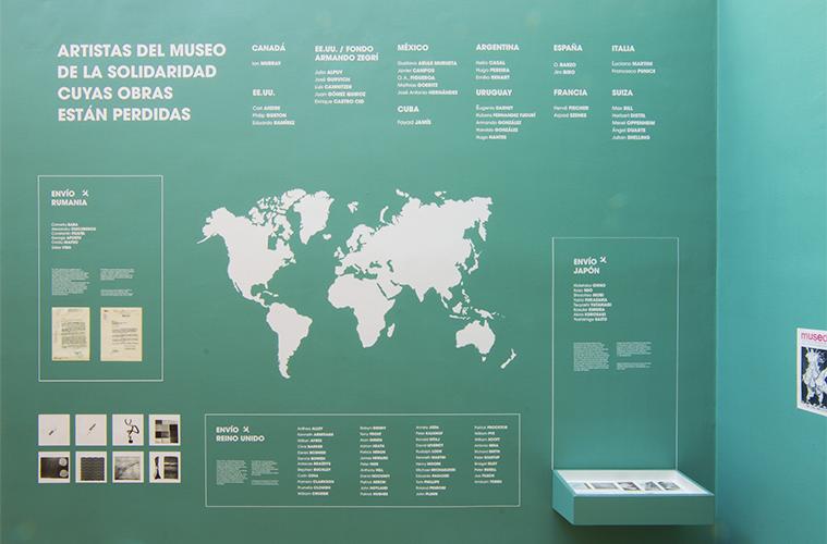 """Vista de la exposición """"Debut. 43 obras se reencuentran con su Colección"""", en el Museo de la Solidaridad Salvador Allende (MSSA), Santiago de Chile, 2018. Cortesía: MSSA"""