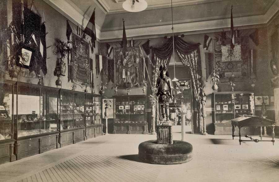 Pabellón de Ecuador, Exposición Histórico Americana Madrid 1892. Imagen cortesía de la Biblioteca Nacional de España.