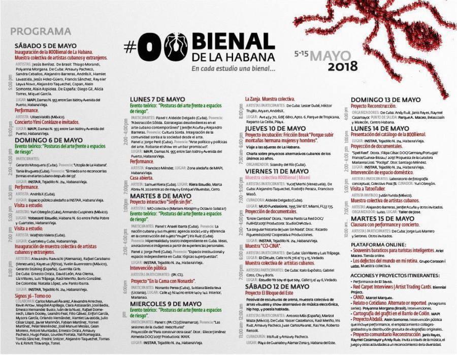 Programación de la #00 Bienal de La Habana