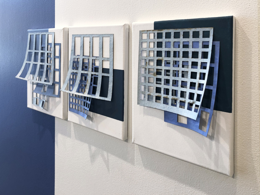 "Serie ""Sistema pictórico concreto-vacío"", de Emilio Narciso. Óleo sobre tela, 2018."