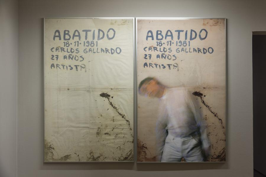 """Vista de la exposición """"A la Carne de Chile"""", de Carlos Gallardo, en galería D21, Santiafo de Chile, 2018. Foto: Jorge Brantmayer"""