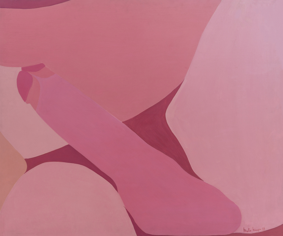 Marta Minujín, Sin título, 1973, acrílico sobre tela, 100 x 120 cm. Cortesía: Henrique Faria Fine Art, Buenos Aires