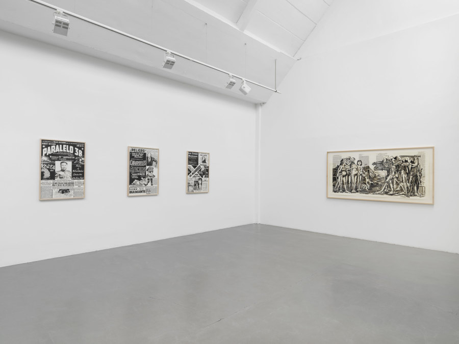 Exhibition view of Fernando Bryce at Galerie Barbara Thumm, Berlin, 2018. Photo: Jens Ziehe