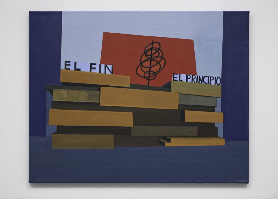 Magdalena Jitrik, El fin, el principio, óleo sobre tela, 55 cm x 70 cm. Cortesía: Galería Luisa Strina