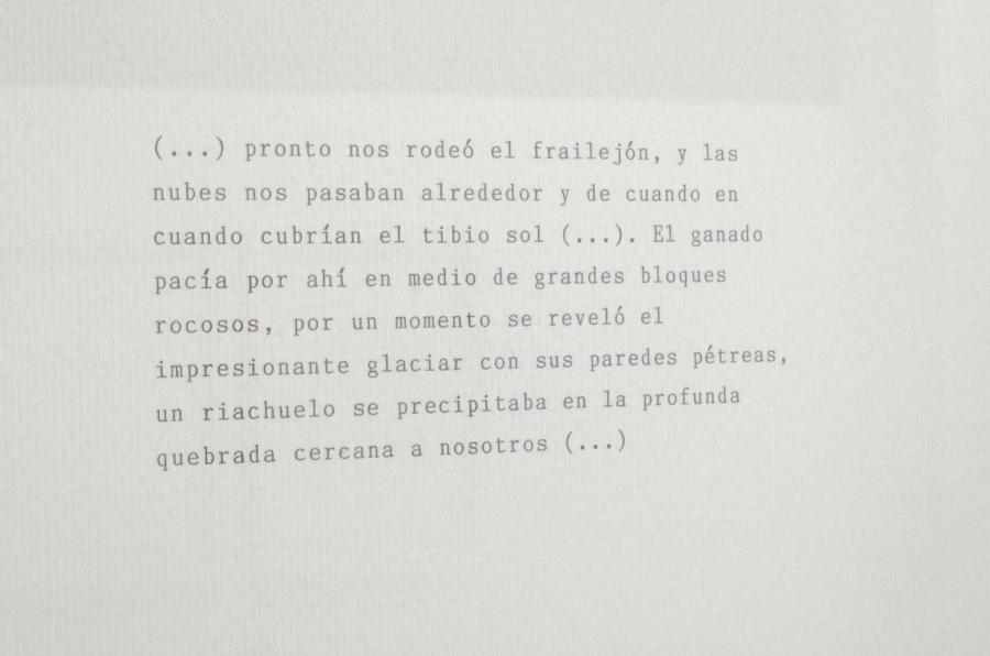 María Virginia Pineda, Paisaje a máquina N° 1 -18 (serie), 2018, tinta mecanográfica sobre papel, 18 piezas de 31 x 21 cm c/u. Cortesía de la artista y El Anexo, Caracas