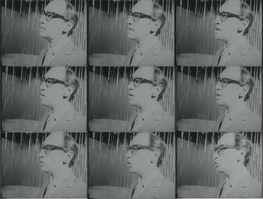 Renny Ottolina en fotogramas pertenecientes al documental TVenezuela (1969), de Jorge Sole