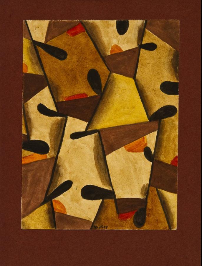 Xul Solar, Tapiz, 1918, óleo sobre tela, 21 x 16 cm, Rubbers Internacional, Buenos Aires