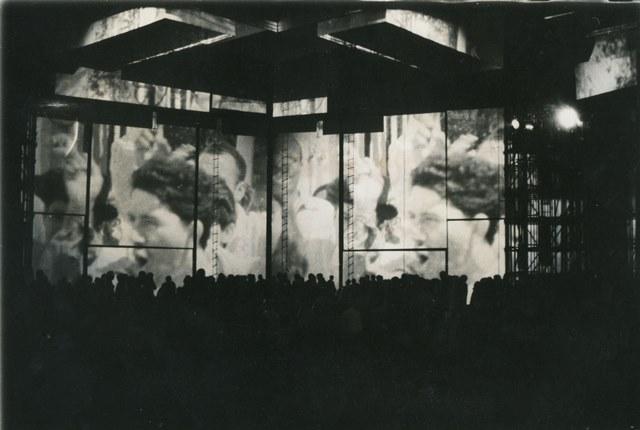 Jacobo Borges, Dispositivo Ciudad - Imagen de Caracas, 1968. Cortesía: Archivo Biblioteca Nacional de Caracas
