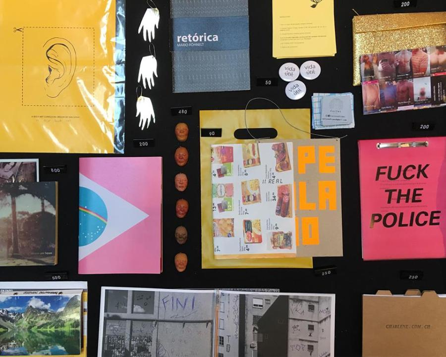 Folhagem, Porto Alegre, Brasil, es parte de la feria de arte impreso Microutopías, que se celebra en el CCE de Montevideo entre el 8 y 10 de junio de 2018