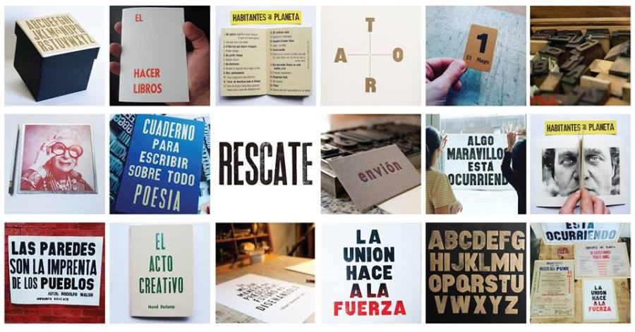 Imprenta Rescate, Argentina, es parte de la feria de arte impreso Microutopías, que se celebra en el CCE de Montevideo entre el 8 y 10 de junio de 2018