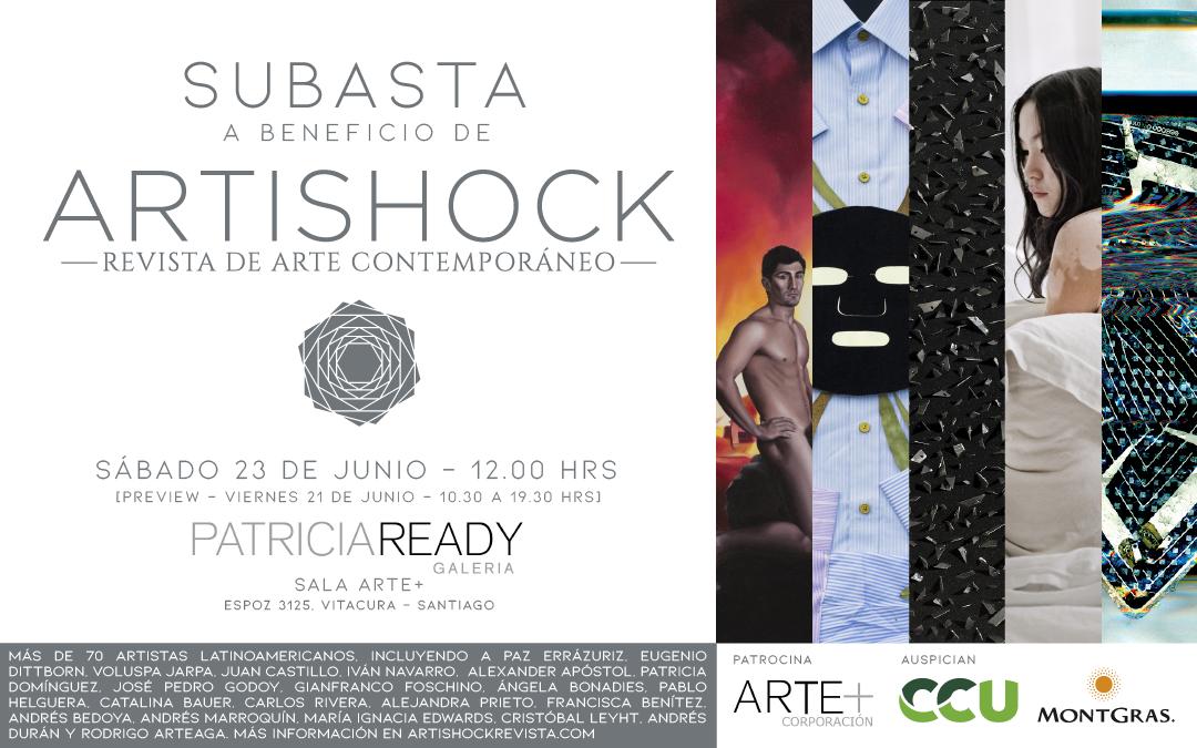PRIMERA SUBASTA A BENEFICIO DE ARTISHOCK | 23 DE JUNIO | GALERÍA PATRICIA READY