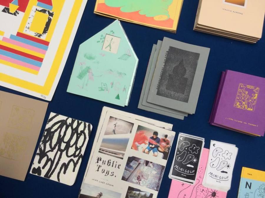 Minigolf Books, Chile, es parte de la feria de arte impreso Microutopías, que se celebra en el CCE de Montevideo entre el 8 y 10 de junio de 2018