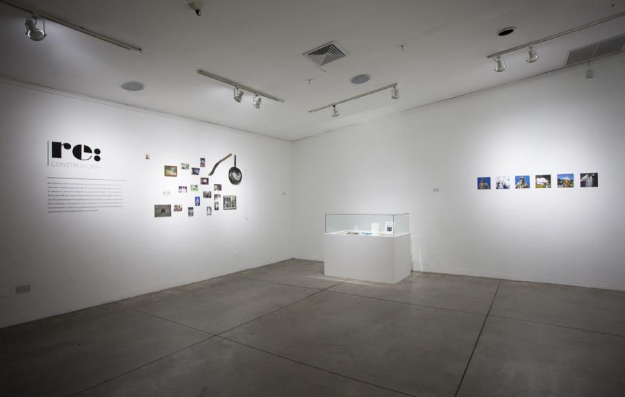 Vista de la exposición Re: Construcción, en el Centro Cultural de España en San Salvador, 2018. Foto: René Figueroa.