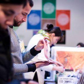 Feria de arte impreso Microutopías, CCE de Montevideo, del 8 al 10 de junio de 2018. Foto: Camila Caballero