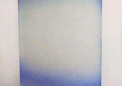 Catalina Valenzuela Reymond, Lienzo Gradiente, 2014, pastel seco sobre papel, 200 x 120 cm. Cortesía de la artista