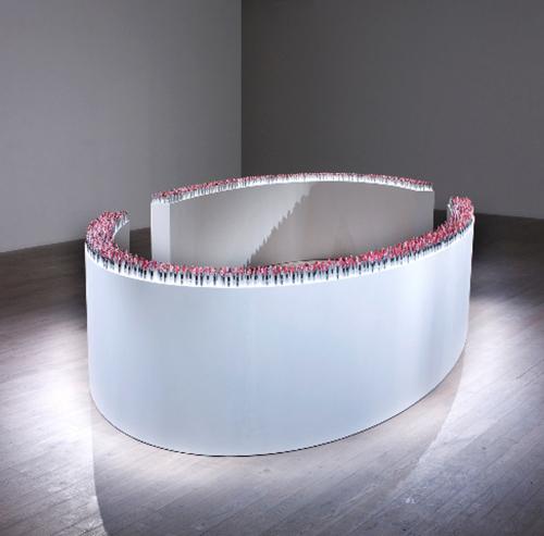 Obra de Livia Marín en la muestra Tectonic Shift: Contemporary Art from Chile, realizada en 2011 en Saatchi Gallery, Londres. Foto: cortesía Fundación AMA.