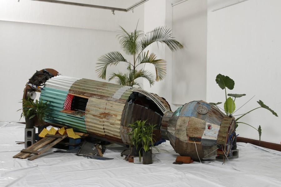 Simón Vega, artista de El Salvador, es uno de los participantes de la XXI Bienal de Arte Paiz, Guatemala, 2018. Cortesía del artista y Bienal Paiz