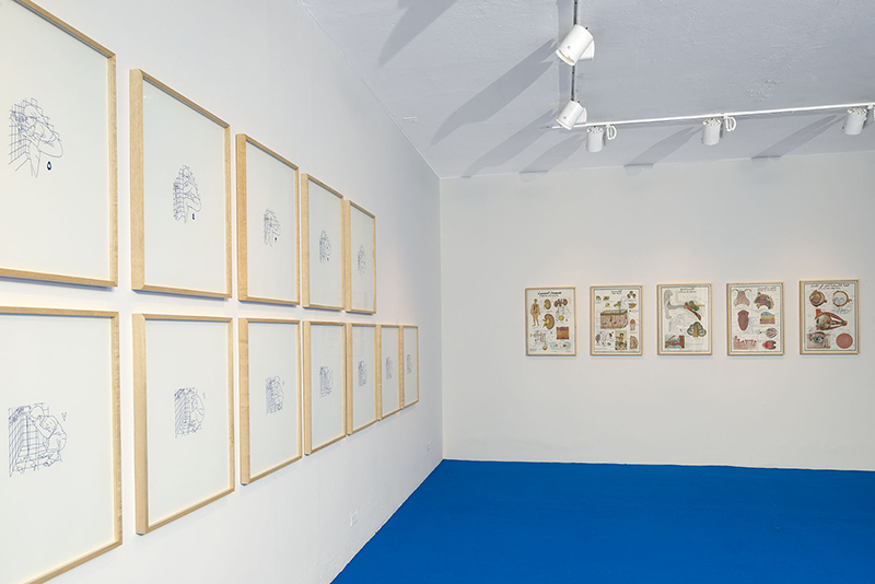 """Vista de la exposición """"Formas caídas"""", de Alia Farid, en NC-arte, Bogotá, 2018. Cortesía de NC-arte"""