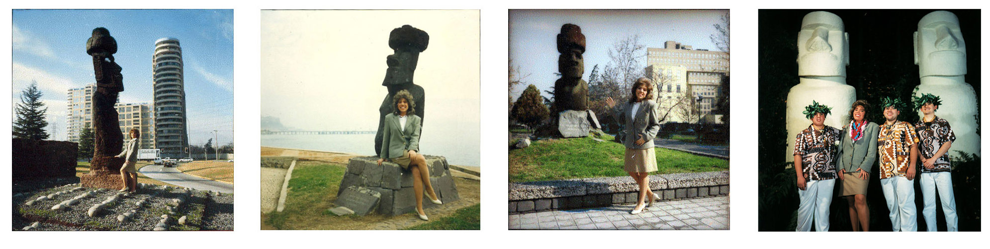 Claudia del Fierro, Instantáneas de Turista, 1997-1999, acción y fotografía, 120 mm slides, 35 mm slides, Polaroids, C-prints. Cortesía de la artista