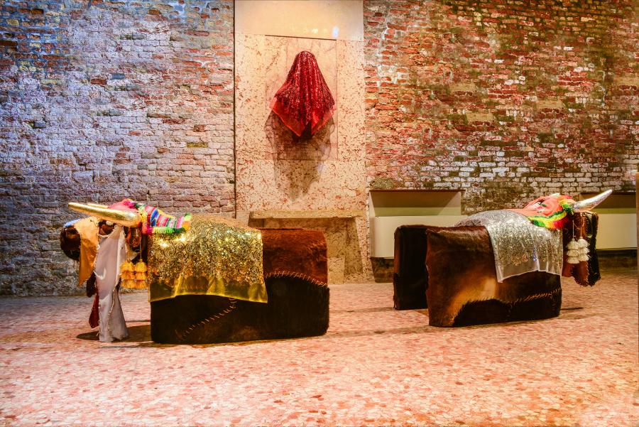 José Ballivián, Waka Waka, 2017. Pabellón de Bolivia en la 57° Bienal de Venecia. Foto cortesía de Juan Fabbri
