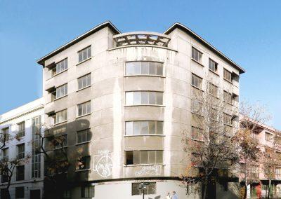 Fachada del edificio Carmen 36, Santiago de Chile. Foto: Maite Zubizarreta