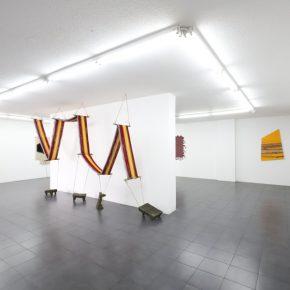 Vista de la exposición de Antonio Pichillá en Galería Extra, Ciudad de Guatemala, 2018. Cortesía de la galería