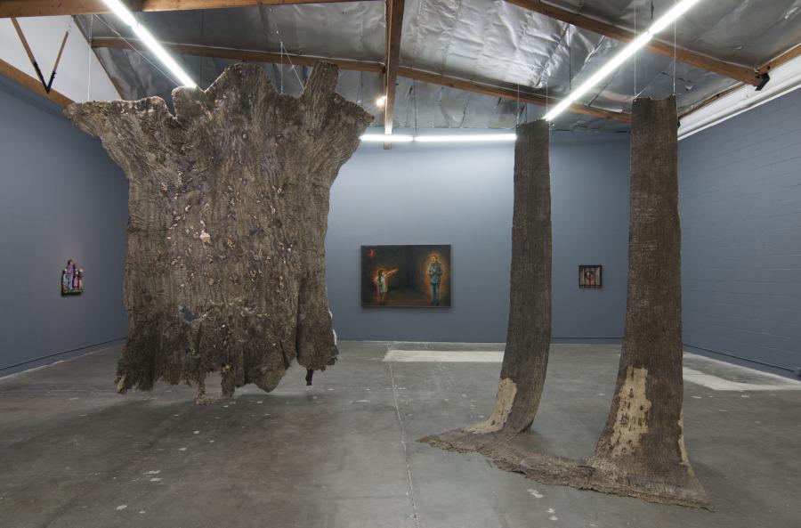 """Vista de la exposición """"My veins do not end in me (Mis venas no terminan en mí)"""", en The Mistake Room (TMR), Los Ángeles, 2018. Cortesía: TMR"""