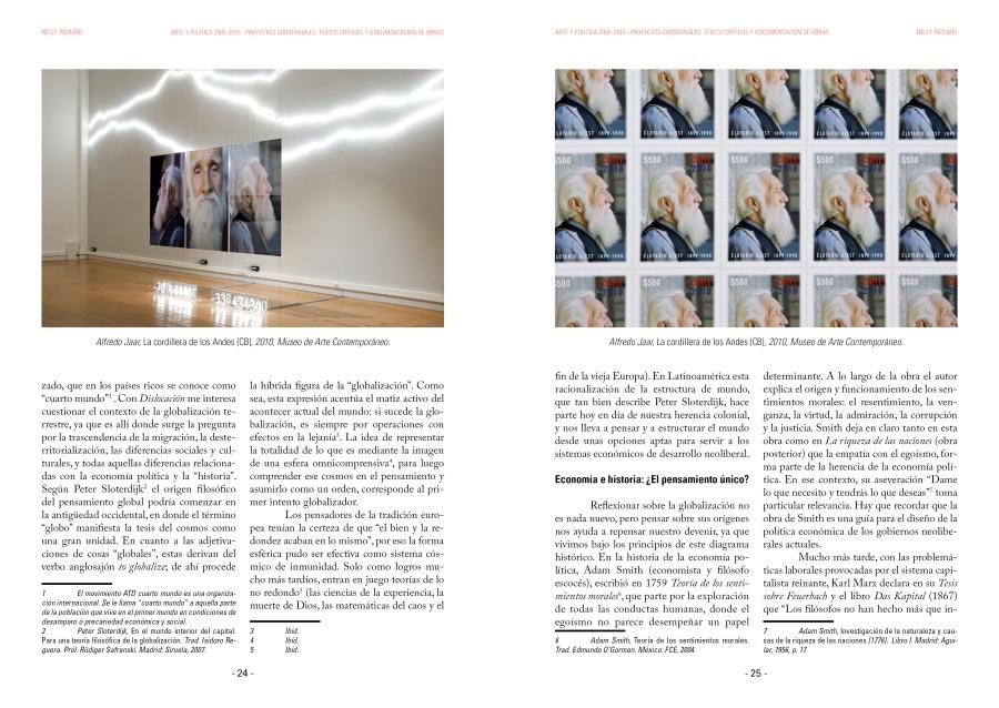 """Página interior del libro """"Arte y Política 2005-2015"""", de Editorial Metales Pesados. Cortesía: Metales Pesados"""