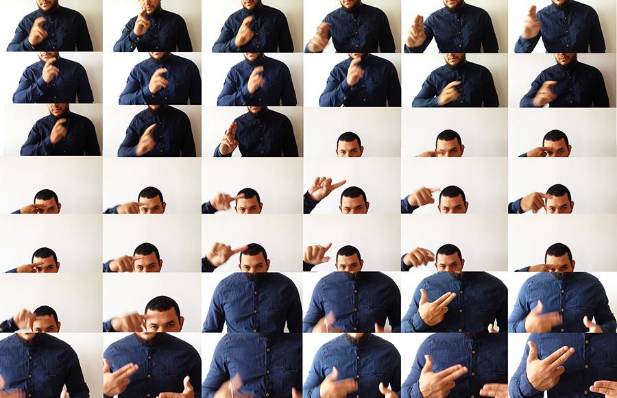 Christian Salablanca, Con mis manos, fotosecuencia de movimiento Volveré para delinquir. Cortesía del artista
