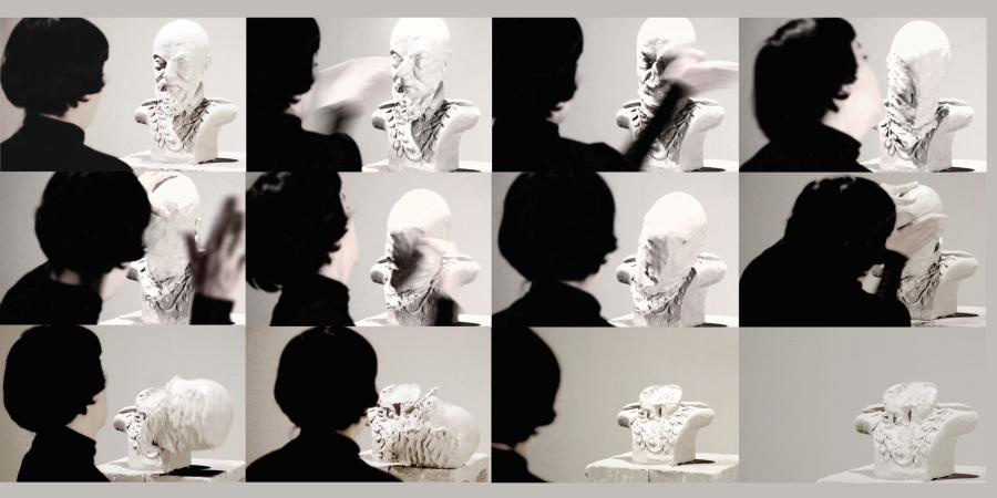 Deborah Castillo, Slapping Power, 2015, stills de video. Cortesía de la artista y MACG, Ciudad de México