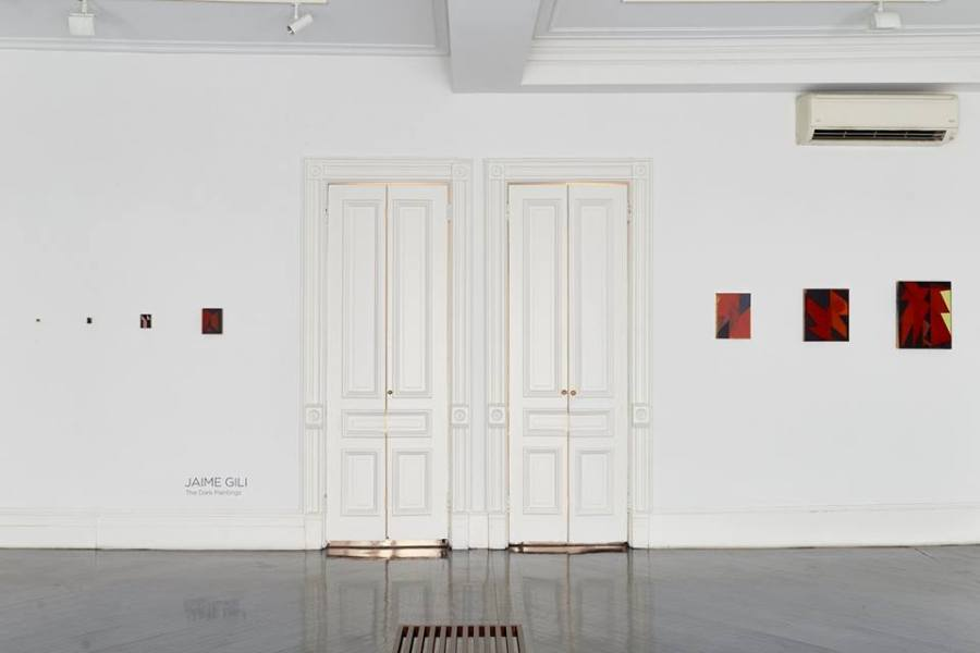 "Installation view of ""Jaime Gili: Dark Paintings"", at Henrique Faria Fine Art, New York, 2018. Photo: Arturo Sánchez. Courtesy of the artist and HFFA"