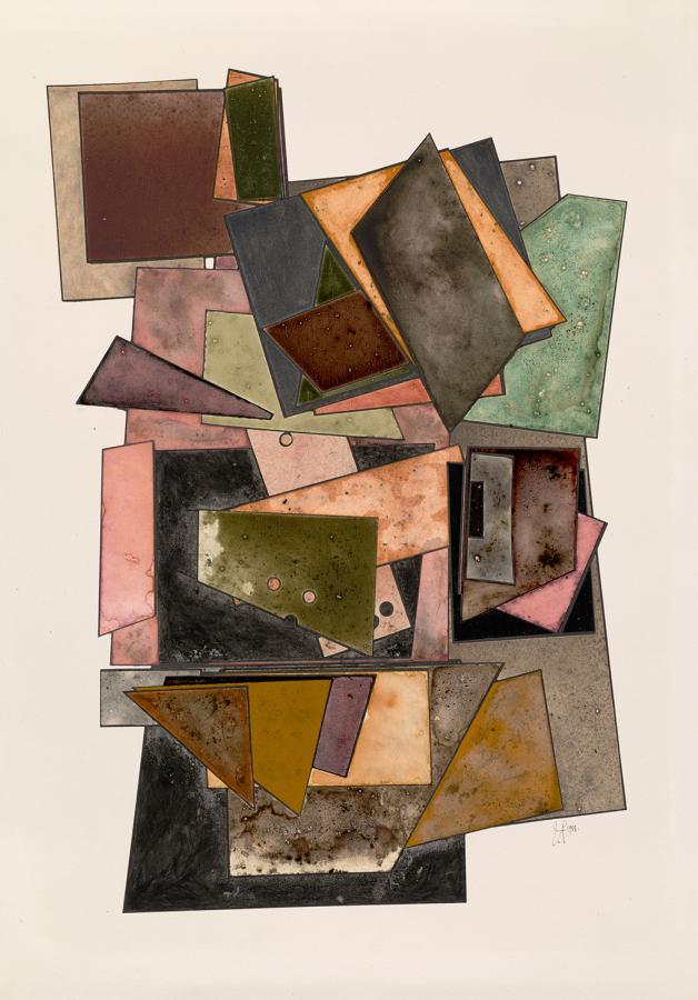 Irving Penn, Sin título, 1987-1988, impresión de paladio y platino, tinta, acuarela y pigmento seco con goma arábiga sobre papel montado. Pieza única. © The Irving Penn Foundation