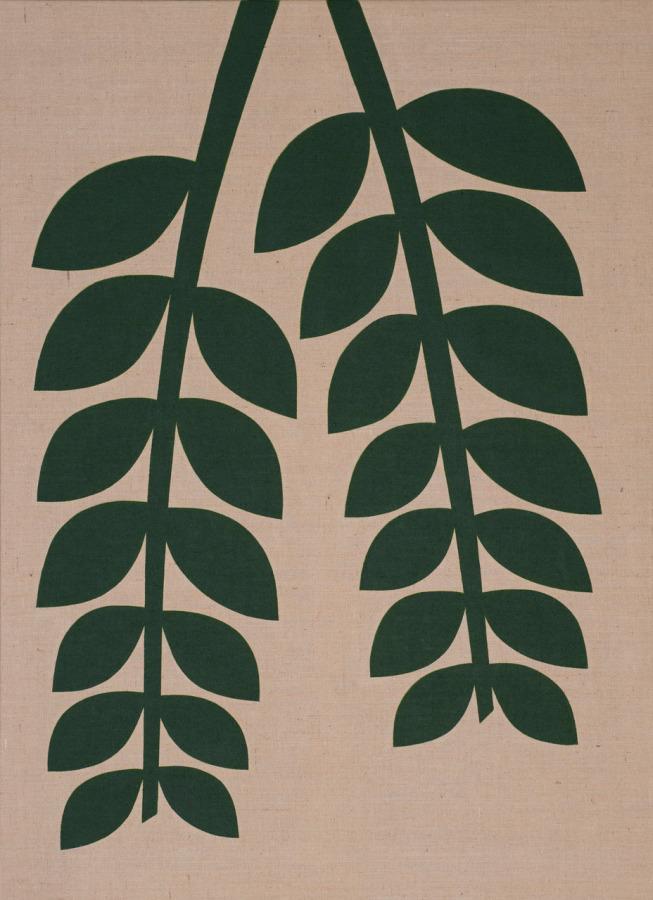 Antonio Ballester Moreno, Planta verde (positivo), 2018, acrílico sobre yute, 200 x 145 cm. Cortesía: Maisterravalbuena