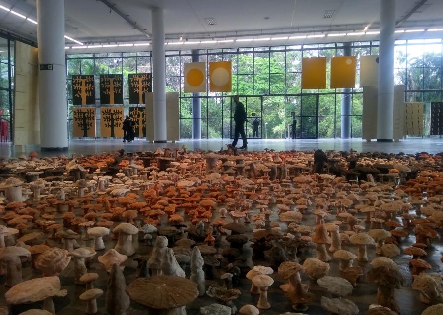 """Vista parcial de la obra de Antonio Ballester Moreno dentro de su proyecto """"sentido/comum"""" para la 33° Bienal de Sao Paulo, 2018. Foto: Alejandra Villasmil"""