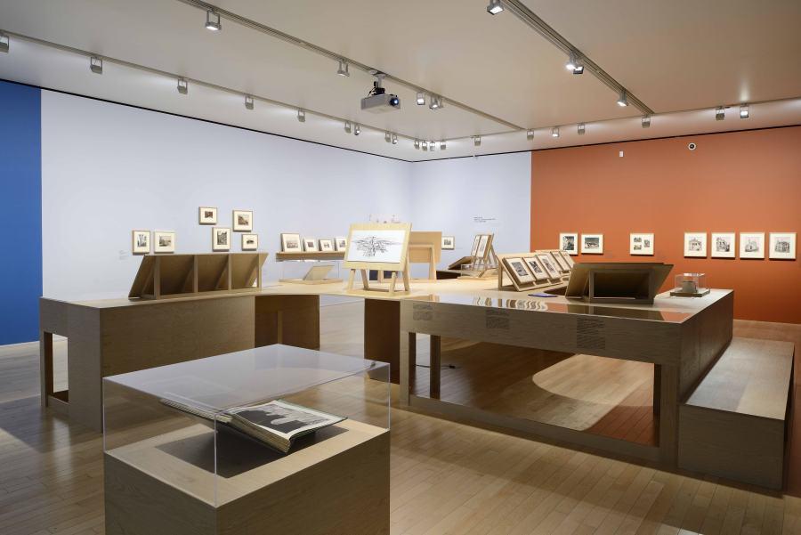 """Vista de la exposición """"La metrópolis en América Latina, 1830-1930"""", en el Museo Amparo, Puebla, México, 2018. Foto cortesía Museo Amparo"""