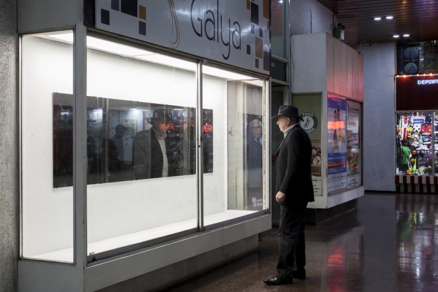 Carlos Rivera, Acromías, 2018. Vista de la exposición en Pasaje Phillips 437, Galería Presidente, local 9, Santiago de Chile. Foto: Marcela González