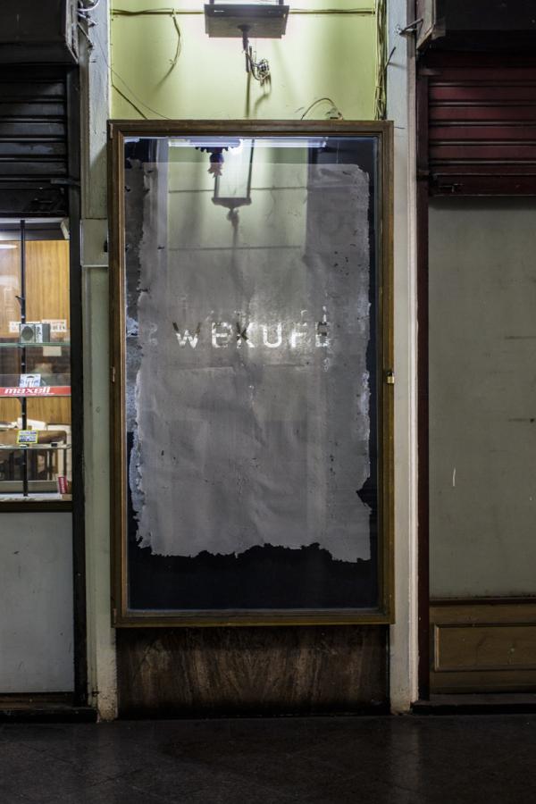Gonzalo Castro-Colimil, Kalku, 2018. Vista de la exposición en Merced 820, Galería San Antonio, vitrina local 10, Santiago de Chile. Foto: Marcela González