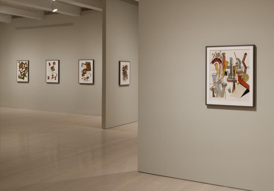 """Vista de la exposición """"Irving Penn: Paintings"""", en Pace/MacGill, Nueva York, 2018. © The Irving Penn Foundation. Foto cortesía de Pace Gallery"""
