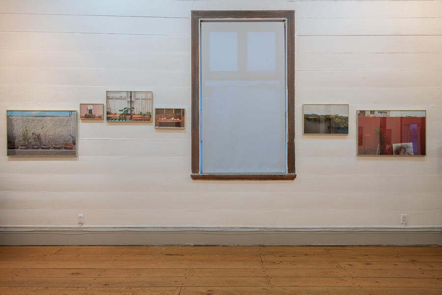"""Vista de la muestra """"Paisajes Privados"""" de Rosario Monterio en Galería de Arte Bosque Nativo, Puerto Varas, Chile. Foto: cortesía de la artista."""