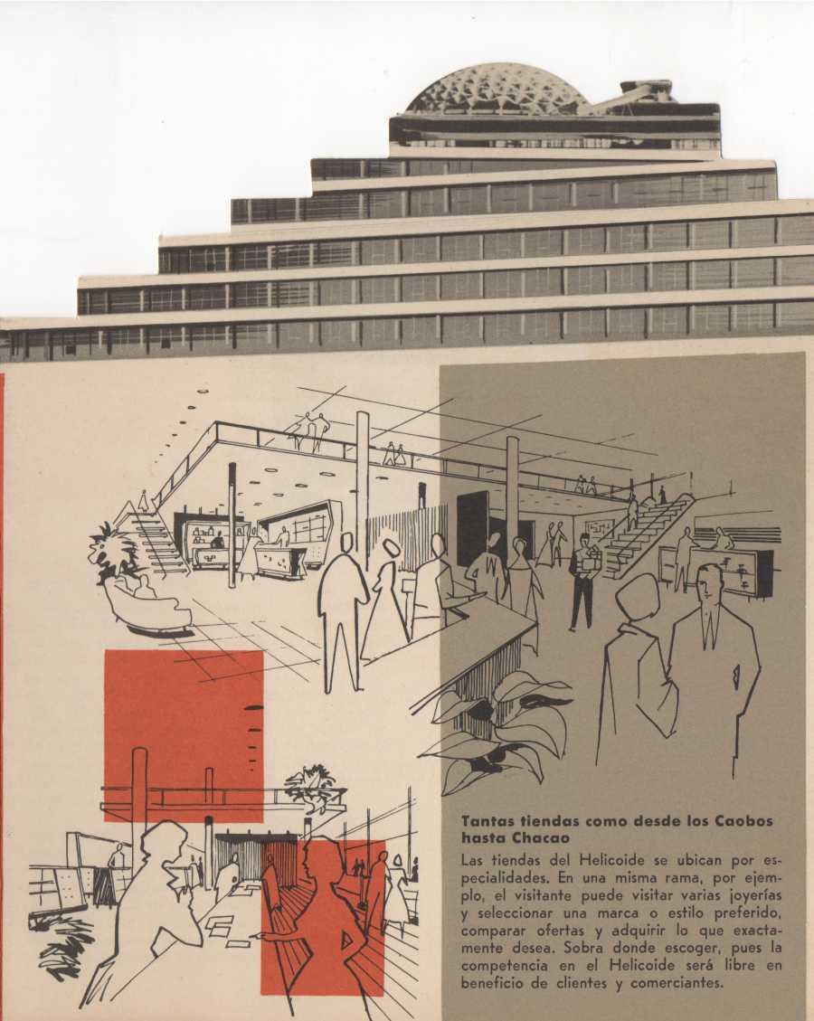El Helicoide, folleto promocional, c. 1958-1960. Cortesía: Proyecto Helicoide