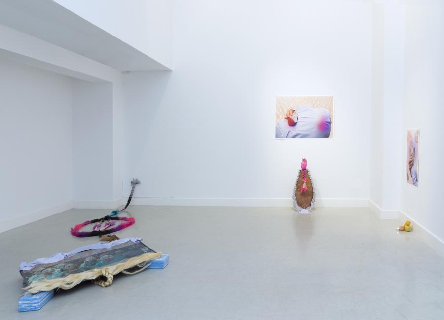 """Patricia Domínguez, vista de la exposición """"Llanto Cósmico"""", en Twin Gallery, Madrid, 2018. Cortesía de la artista y Twin Gallery"""