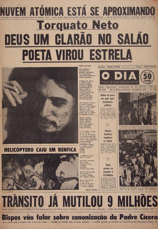Antonio Manuel, Clandestinas, 1975, intervenção gráfica sobre capas do jornal O Dia, 55,5 x 37,5 cm (cada). Coleção do artista. Foto: Mario Caillaux