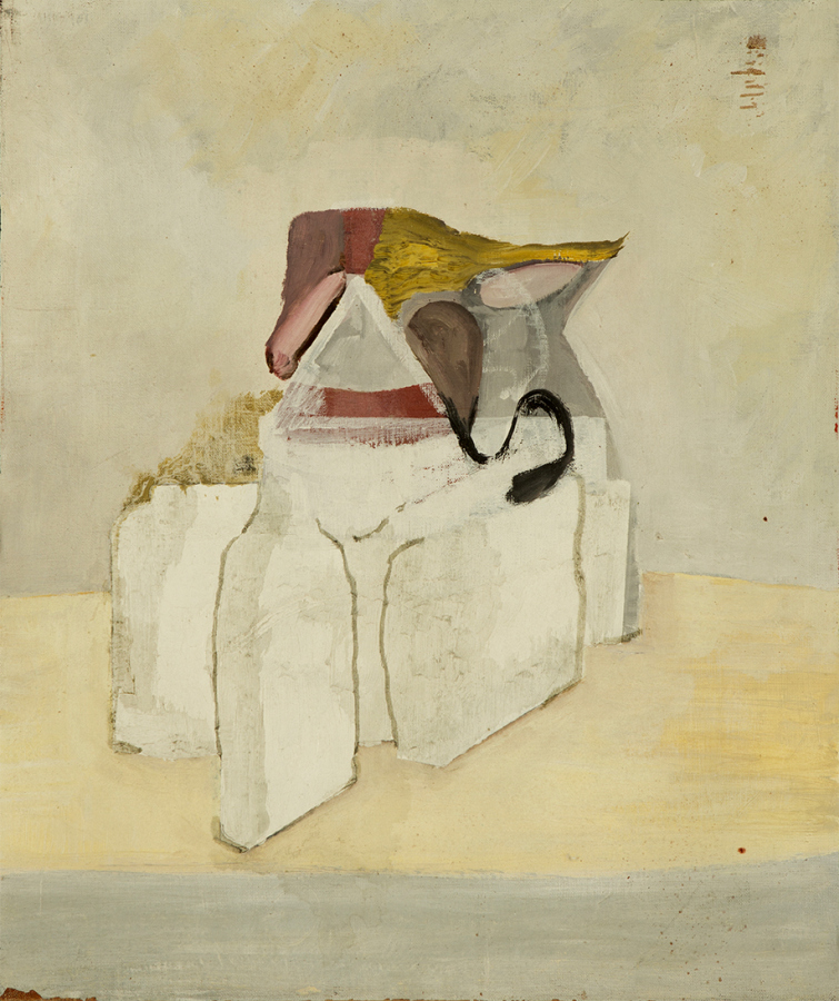 Alejandro Palacios, Atifambersapel, 2014, óleo sobre tela, 50 x 40 cm. Cortesía: The Intuitive Machine