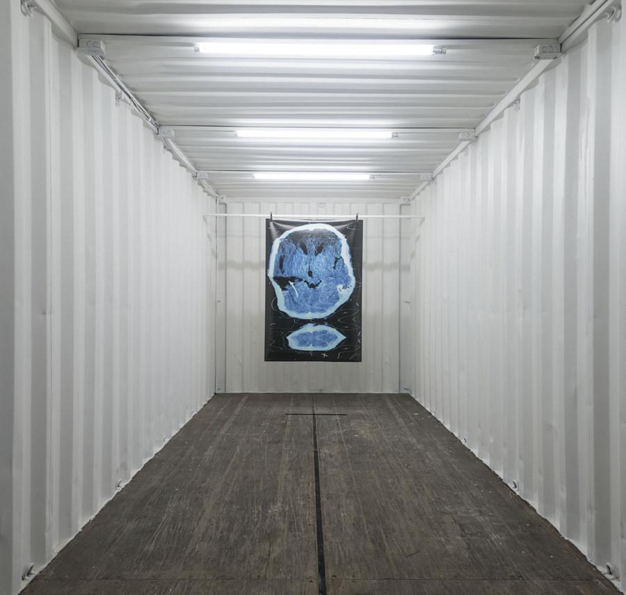 """Vista de la exposición """"Unidad Mínima"""", en Espacio El Dorado, Bogotá, 2018. Foto cortesía de Espacio El Dorado"""