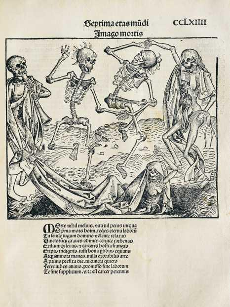 """Michael Wolgemut, """"Danza macabra"""", 1493"""