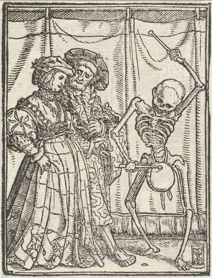 """Hans Holbein El Joven, """"La Dama"""", Danza de la muerte, 1523–5"""